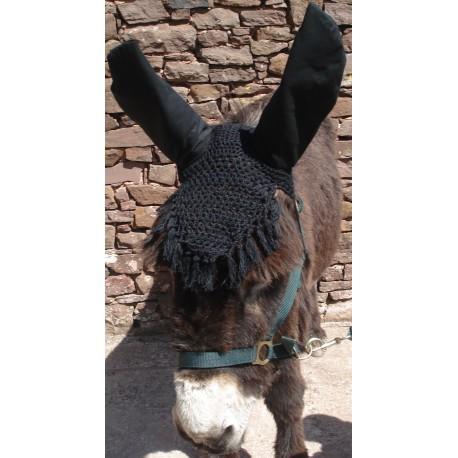 Bonnet de chasse anti-mouche en coton  pour âne