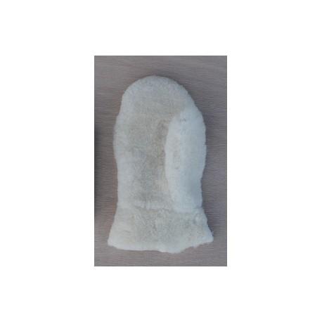 Moufle mouton pour entretien du cuir