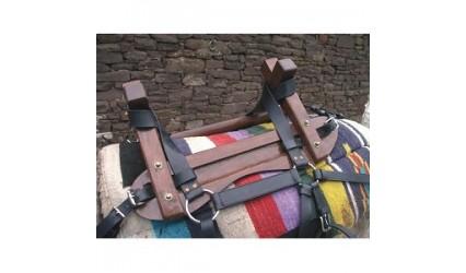 Bât à croissillon pour âne à patins fixe