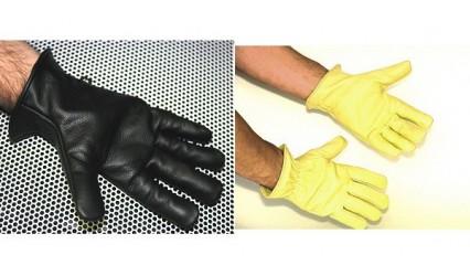 Gant cuir hydrofuge doublé laine