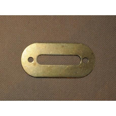 Plaque de métal pour mortaise