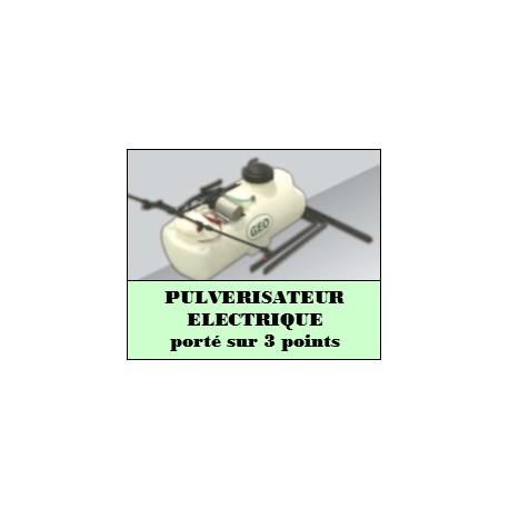 Pulvérisateur électrique porté sur 3 points