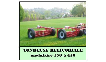 Tondeuse hélicoïdale modulaire 150 à 450