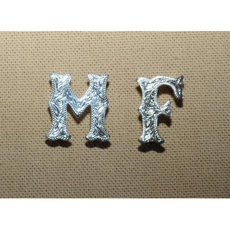 Exemple lettre argenté (recto) 19 mm
